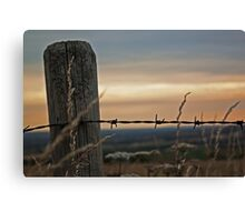 Post and wire Canvas Print