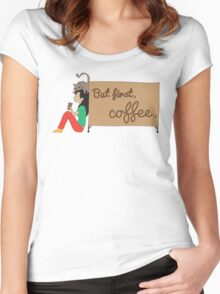 Coffee Sign Women's Fitted Scoop T-Shirt