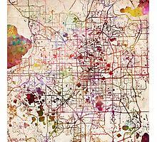 Orlando map Photographic Print