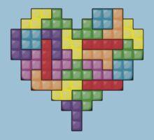 Love Tetris Kids Clothes