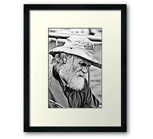 old master at work3 Framed Print