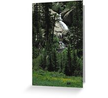 Willow Creek Cascades Greeting Card