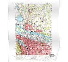 USGS Topo Map Washington Portland 243247 1961 62500 Poster