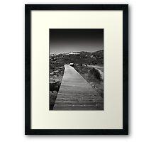 Dune Boardwalk Framed Print
