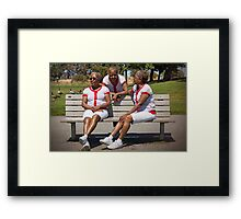 woman in multiplicity photography X3 Framed Print