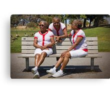 woman in multiplicity photography X3 Canvas Print