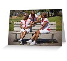 woman in multiplicity photography X3 Greeting Card