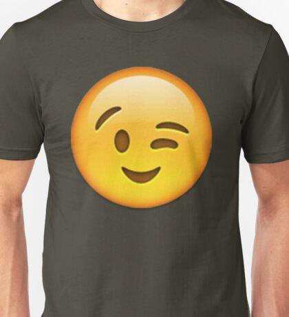 Winky Emoji Unisex T-Shirt
