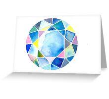 Blue diamond Greeting Card