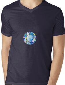 Blue diamond Mens V-Neck T-Shirt