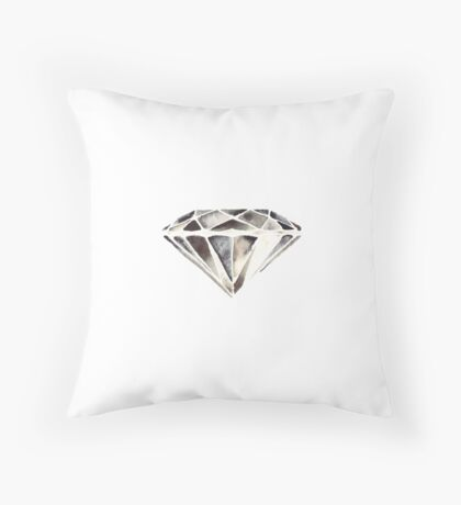 Monotone diamond Throw Pillow