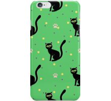 Black cats pattern iPhone Case/Skin