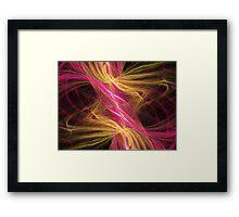 Flamingo Abstract Flame Fractal Framed Print