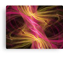 Flamingo Abstract Flame Fractal Canvas Print