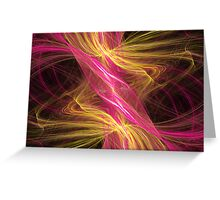 Flamingo Abstract Flame Fractal Greeting Card