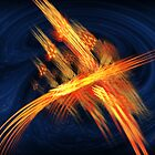 Phoenix Abstract Flame Fractal by Archetypus