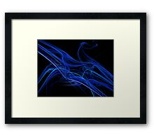 Echo Abstract Flame Fractal Framed Print