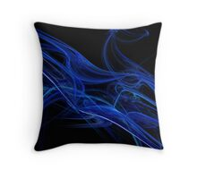 Echo Abstract Flame Fractal Throw Pillow