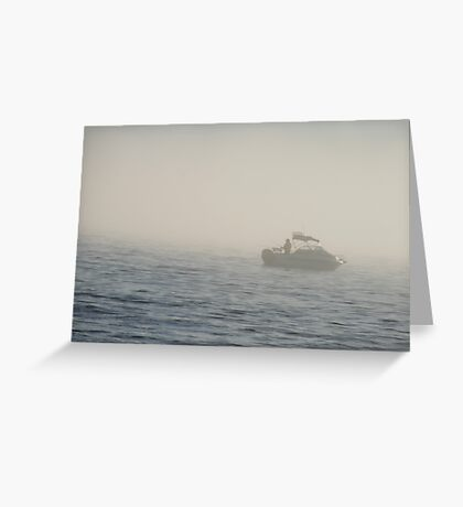 Lost in the fog,Hallett Cove,S.A. Greeting Card