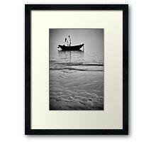 Working Boat Black and white Framed Print