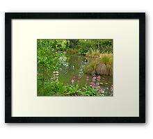 Pond, Flaxmere Garden, South Island, New Zealand.  Framed Print