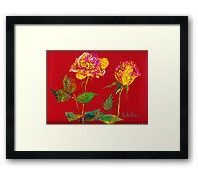 roses for her Framed Print