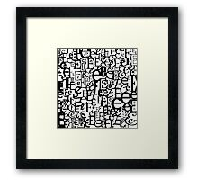 The Letter E Framed Print