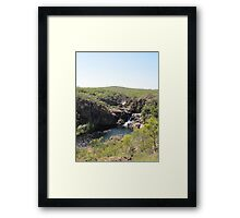 At last we see the 2nd & 3rd falls from top of escarpment. Framed Print