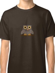 Sitting Grey Owl  Classic T-Shirt