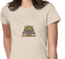 Sitting Grey Owl  Womens Fitted T-Shirt