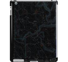 USGS Topo Map Oregon Barnes Valley 20110727 TM Inverted iPad Case/Skin