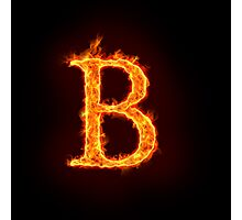 fire alphabet Photographic Print