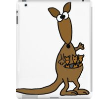 Funky Mother Kangaroo and Babies iPad Case/Skin