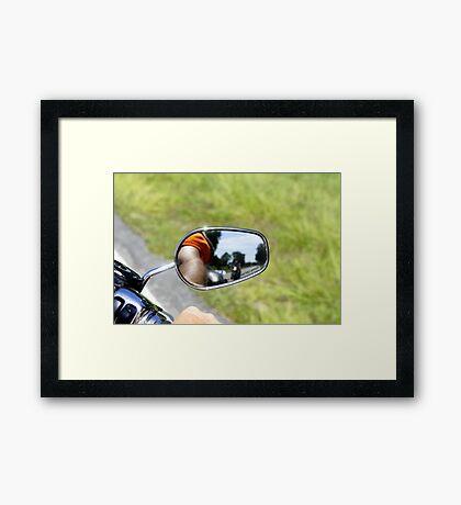 Rear View Rider Framed Print