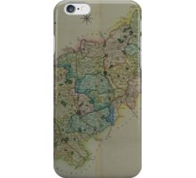 Old Colour Map of Northamptonshire iPhone Case/Skin
