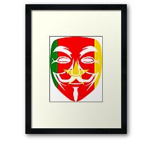 Anonymous Mask Cameroon T Shirt and Hoodie Framed Print