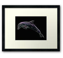 Medicine Wheel Totem Animals by Liane Pinel- Dolphin Framed Print
