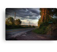 Along Route 118 Canvas Print