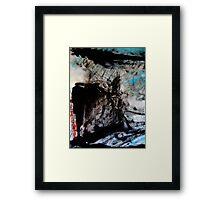 river..... monument rock Framed Print
