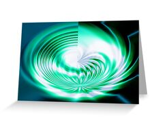 Curved around (Abstract) Greeting Card