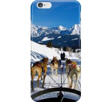 Dog Sledding in Wyoming iPhone Case/Skin