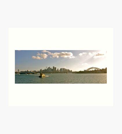QM2 - Sydney Harbour Art Print