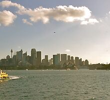 QM2 - Sydney Harbour by Nick Rocco