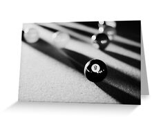 Eight Ball, Corner Pocket Greeting Card