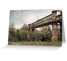 Laclan River Railway Bridge Greeting Card