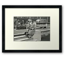 perfectly dressed, 1950s Belfast, Northern Ireland Framed Print