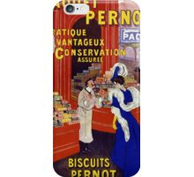 Paquet Pernot Vintage Advertising Poster Restored iPhone Case/Skin