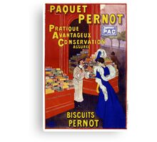 Paquet Pernot Vintage Advertising Poster Restored Canvas Print