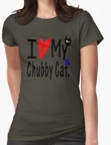 Chubby Cat Womens Fitted T-Shirt