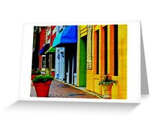 Morning Walk in Marietta Square Greeting Card